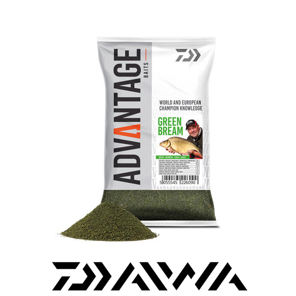 Daiwa Advantage Grundfutter 1kg #Green Bream