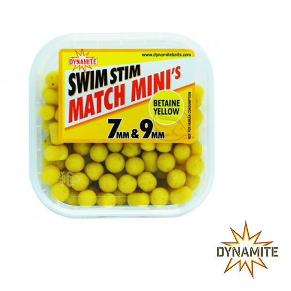 Dynamite Baits Swim Stim Minis Yellow 7&9mm
