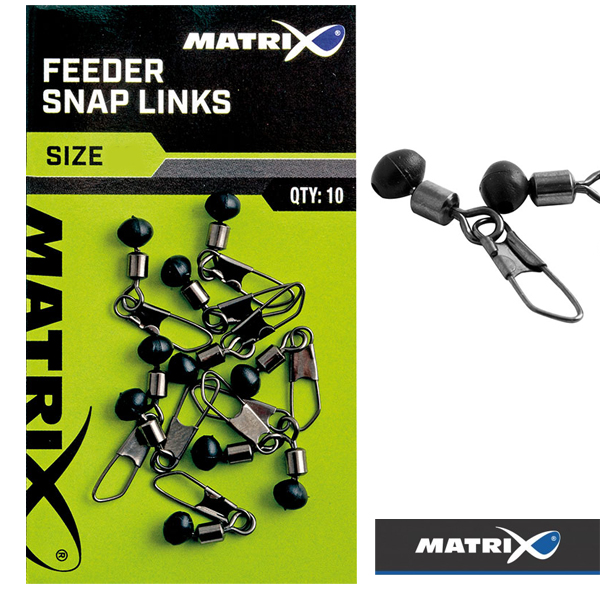 Matrix X-Strong Feeder Snap Links Qty 10