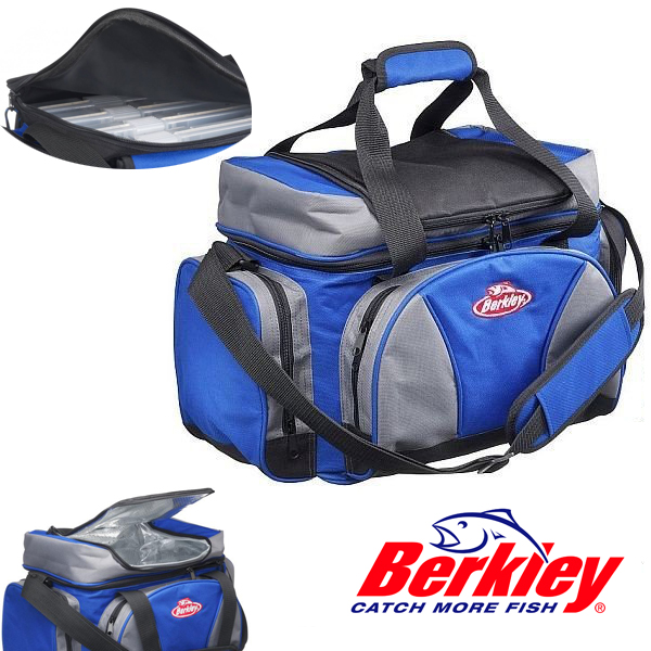 Berkley System Bag L Blue-Grey-Black + 4 Boxes