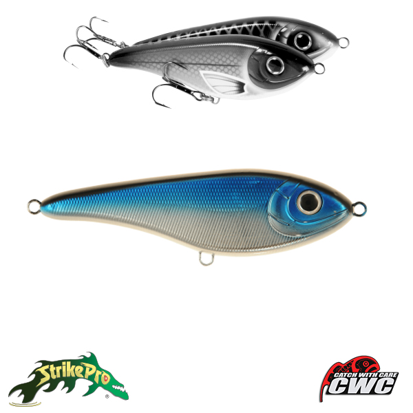 Strike Pro Buster Jerk Sinking 15cm #Blue Chrome