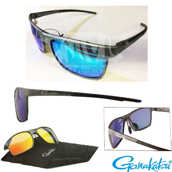 Gamakatsu G-Glasses Alu Light Grey #Grey/Ice Blue Mirror