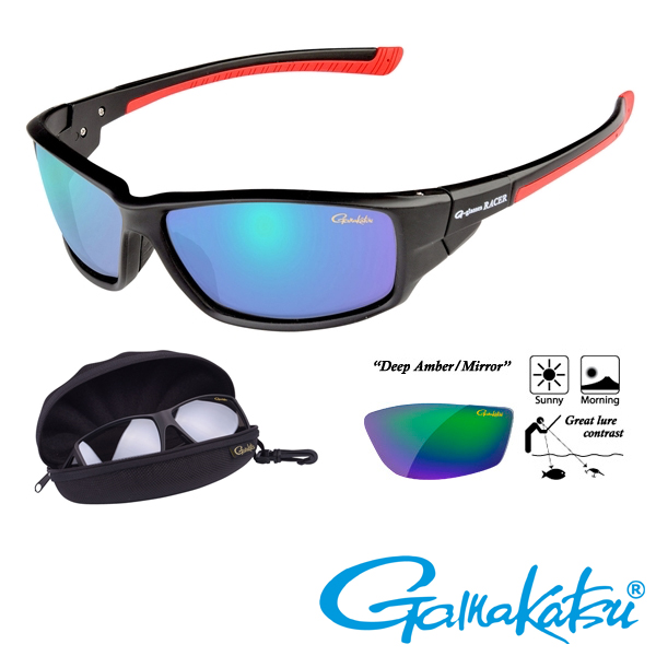 Gamakatsu G-Glasses Racer #Deep Amber/Green Mirror