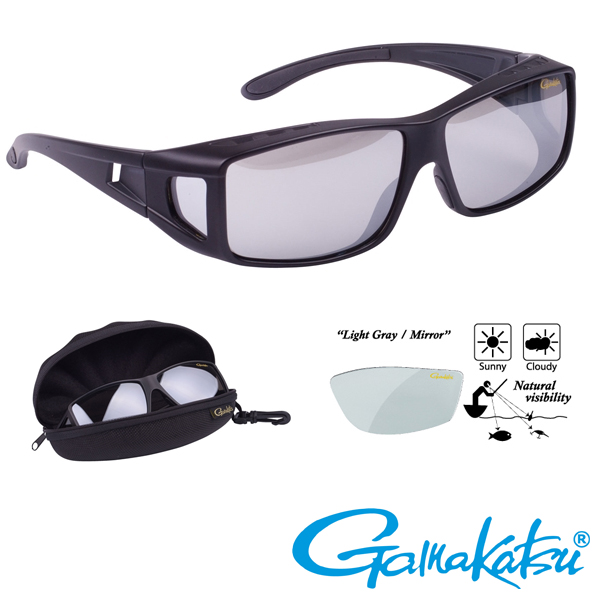 Gamakatsu G-Glasses Over Glasses #Light Gray/Mirror