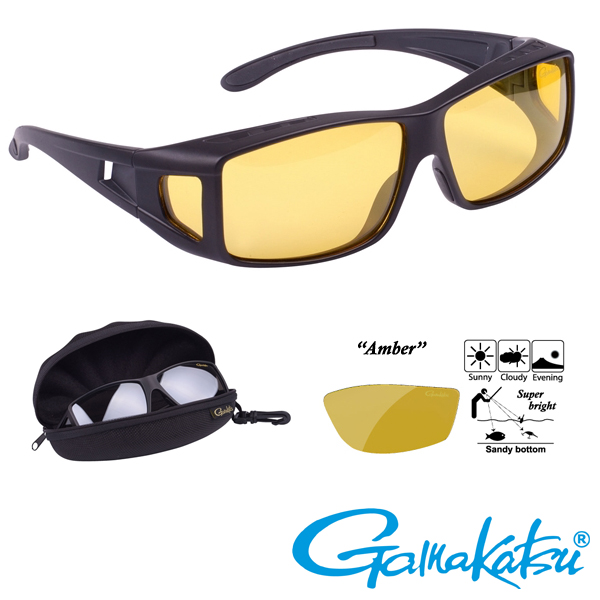 Gamakatsu G-Glasses Over-Glasses #Amber