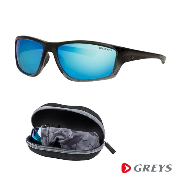 Greys G3 Sunglasses - Gloss Black/Blue Mirror