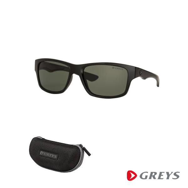 Greys G4 Sunglasses - Matt Black/ Green Grey
