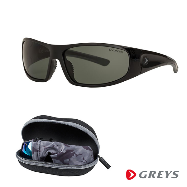 Greys G1 Sunglasses - Gloss Black/Green Gray