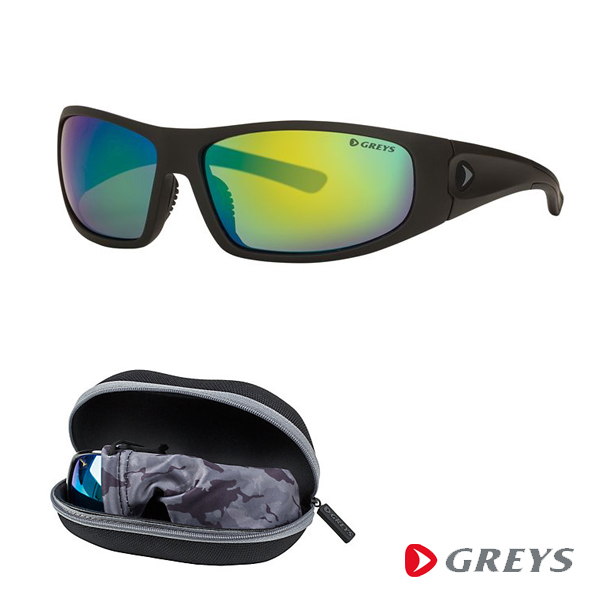 Greys G1 Sunglasses - Matt Carbon/Green Mirror