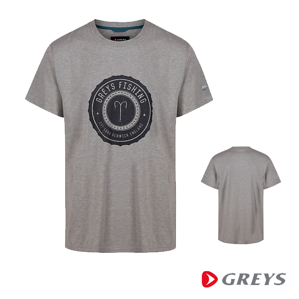 Greys Heritage T Shirt Grey XL