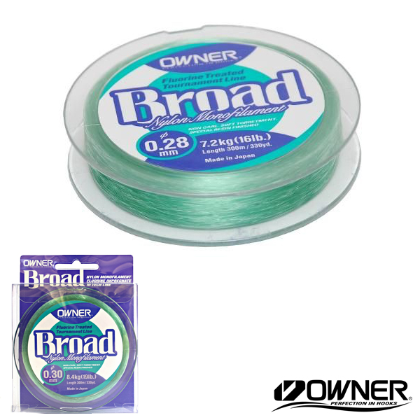 Owner Broad Nylon Mono 0,18mm 3,1kg