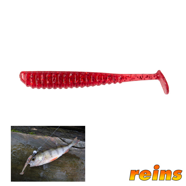 Reins Aji Ringer Shad #310 Strawberry
