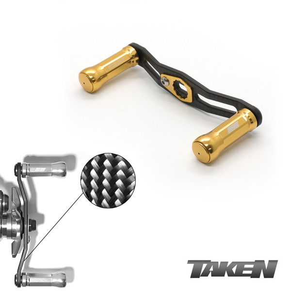 Taken SS Carbon Frame Handle 90mm Gold