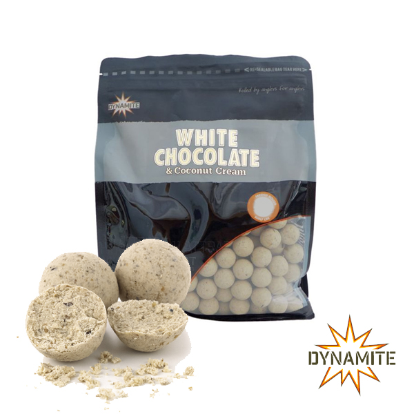 White Chocolate & Coconut Cream Boilies 15mm 1kg