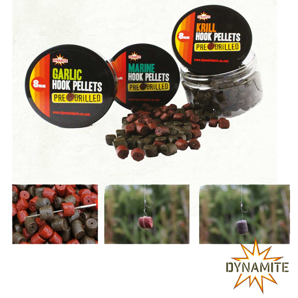 Dynamite Baits Pre Drilled Hook Pellets 8mm Krill