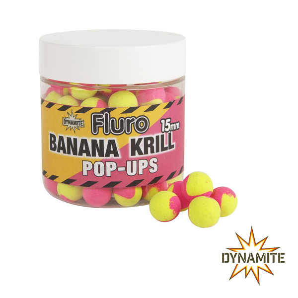 Dynamite Fluro Banana Krill Pop-Ups 15mm