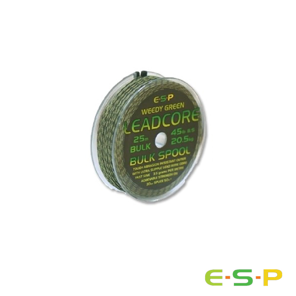 ESP Leadcore Bulk Weedy Green 25m