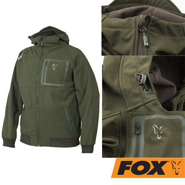 Fox Shell Hoody Green/Silver S