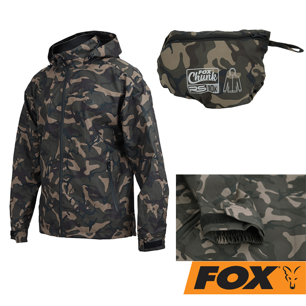 Fox RS10K Pack-Away Rain Jacket Camo #XL