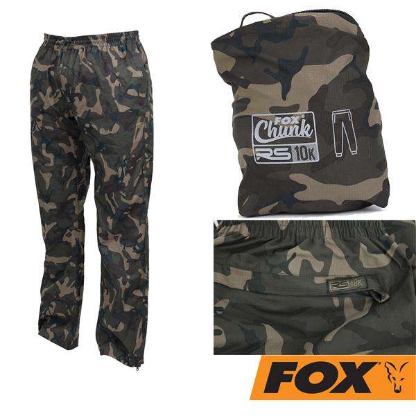 Fox Chunk RS10K Pack-Away Rain Trousers Camo #XXL