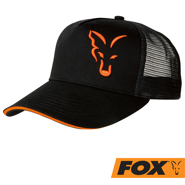 Fox Black/Orange Trukker Cap
