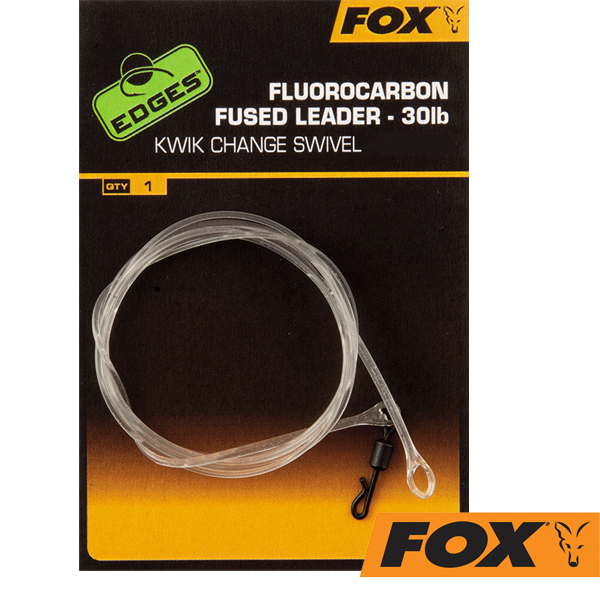 Fox Edges Fluorocarbon Fused Leader 30lb Size 7