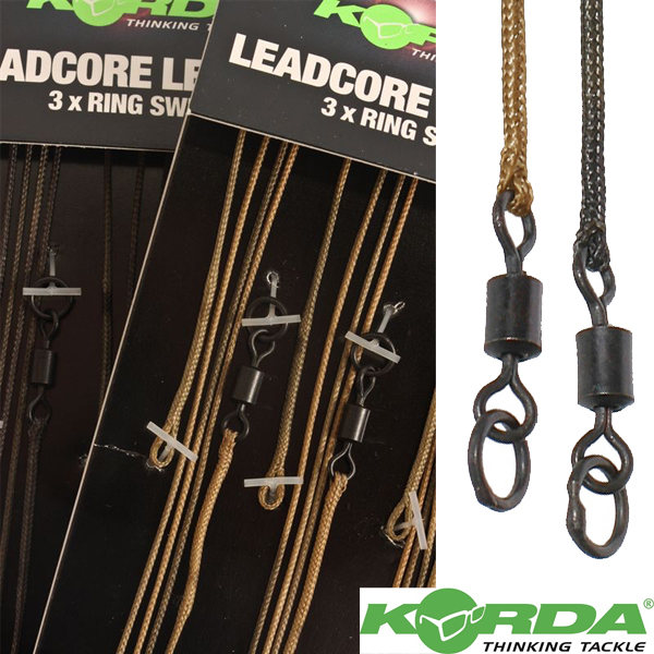Korda Leadcore leader Ring Swivel Weed/Silt