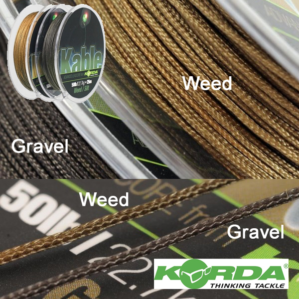 Korda Kable Leadcore Gravel 25m
