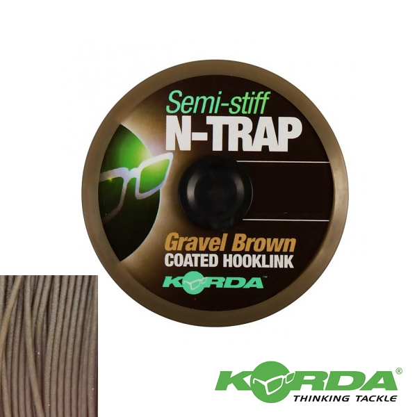 Korda N-Trap Semi Stiff 20lb #Gravel Brown
