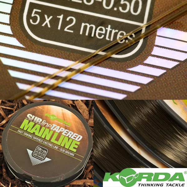 Korda Subline Tapered Leader 0,30-0,50mm #Brown
