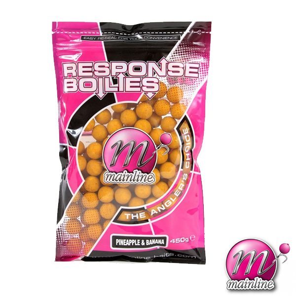 Mainline Shelf Life Boilies 450gr 18mm #Pineapple&Banana