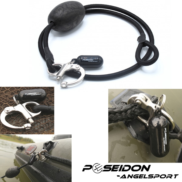 Poseidon Boat Holder Speed Release Black