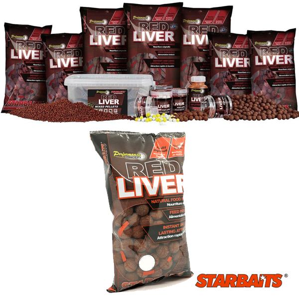 Starbaits Performance C. Boilies Red Liver 14MM 1KG