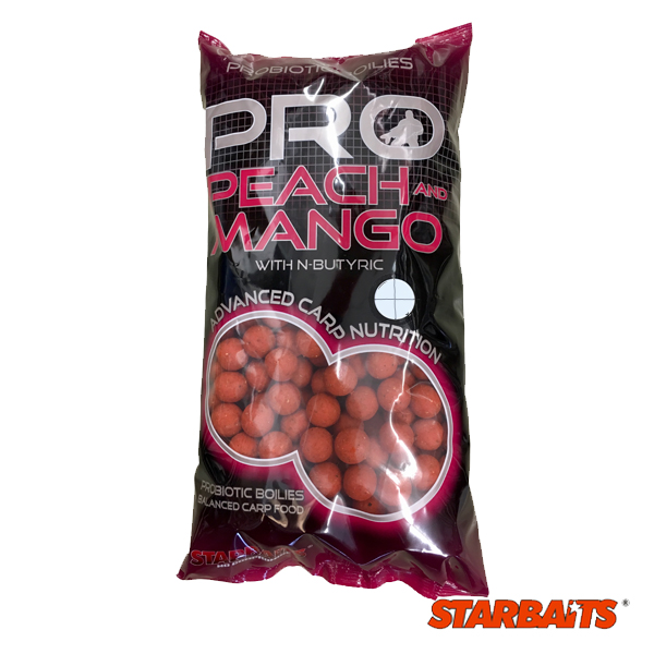 Starbaits Probiotic Peach and Mango Boilies 20 mm 2,5kg