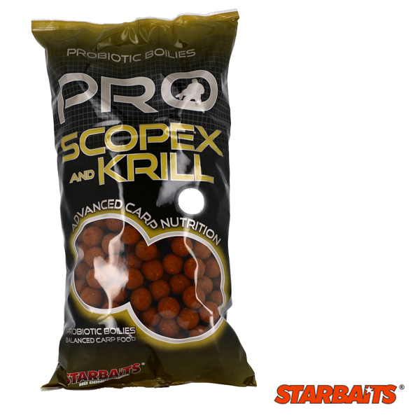 Starbaits Probiotic Scopex and Krill Boilies 20mm 1kg