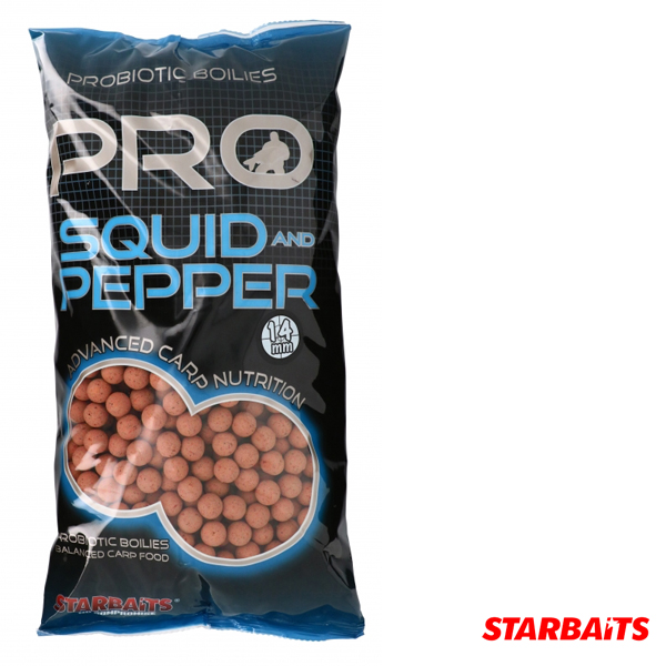Starbaits Probiotic Boilies Squid&Pepper 20mm 2,5KG