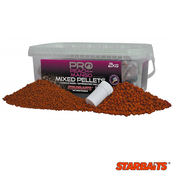 Starbaits Probiotic Peach and Mango Pellets Mix 2kg