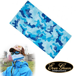 Ever Green Cool Neck Garter #Blue Camo