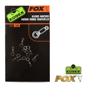Edges kuro micro hook ring swivels x10