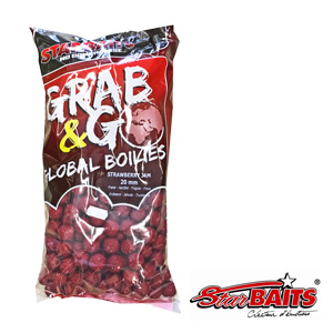 Grab & Go Global Boilies Strawberry Jam 20mm 2,5kg